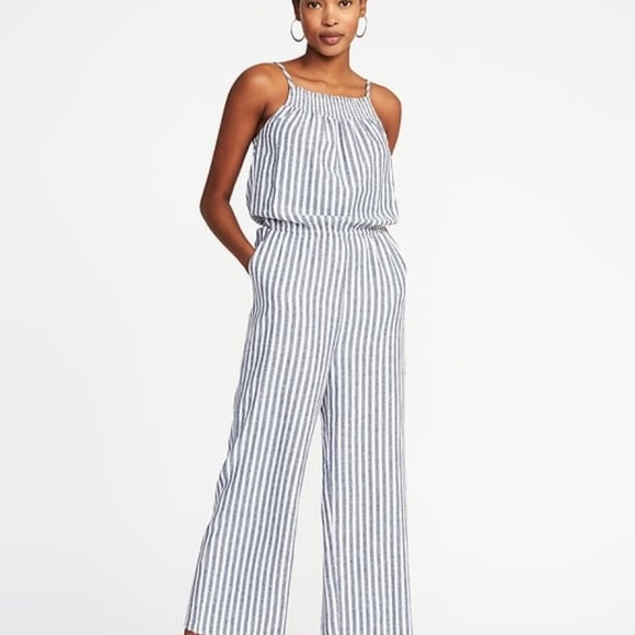 Old Navy Dresses | Plus Size Striped Jumpsuit | Poshmark